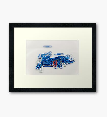 Paperclips Framed Print