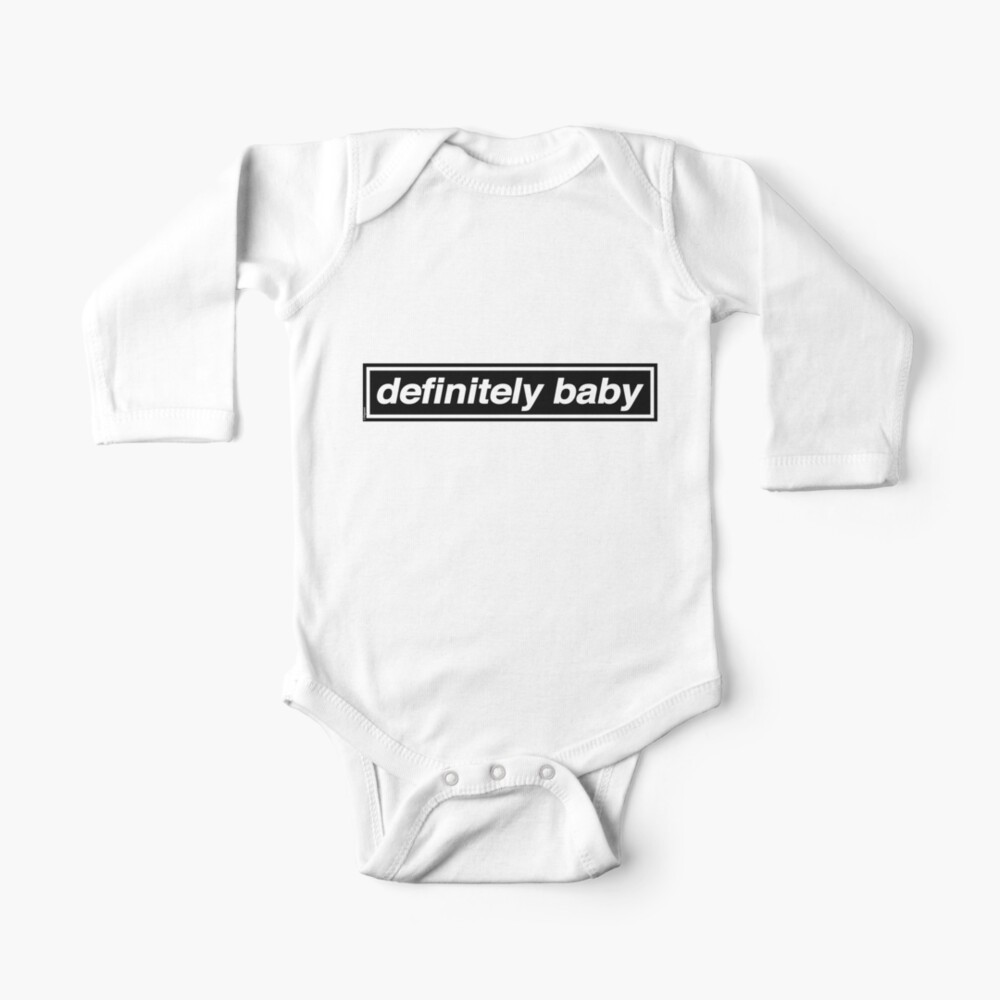 Definitely Baby - [THE ORIGINAL & BEST!] OASIS Band Tribute Baby One-Piece