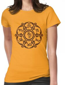 Om flower Womens Fitted T-Shirt