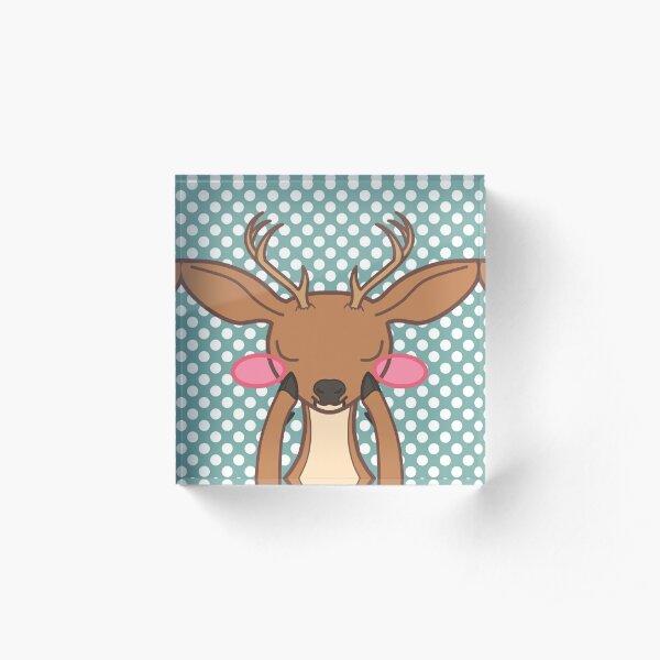 Sweet Deer Acrylic Block