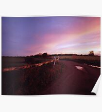 Eight Acre Drove, Somerset Level Poster