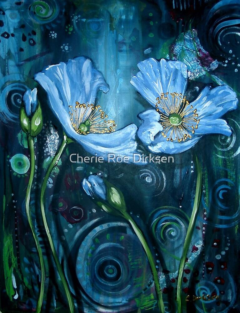 Blue Poppies - Finding Beauty in Chaos Series by Cherie Roe Dirksen