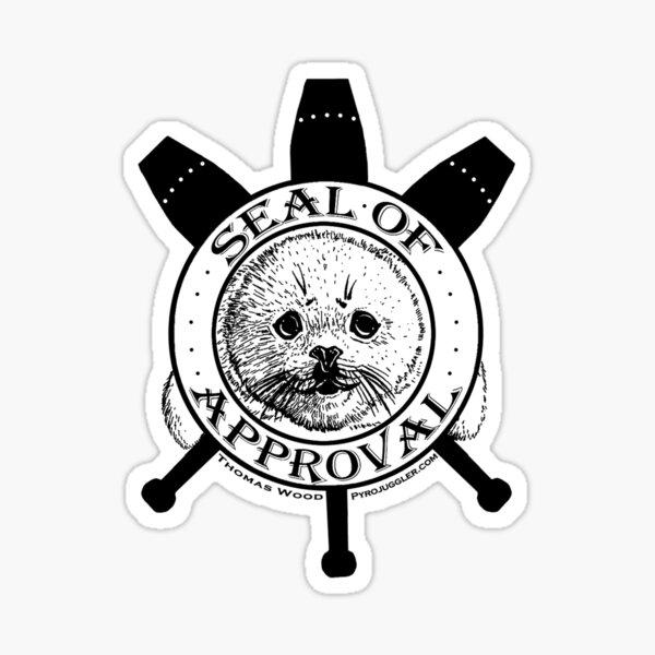 The Pyrojuggler Seal of Approval Sticker