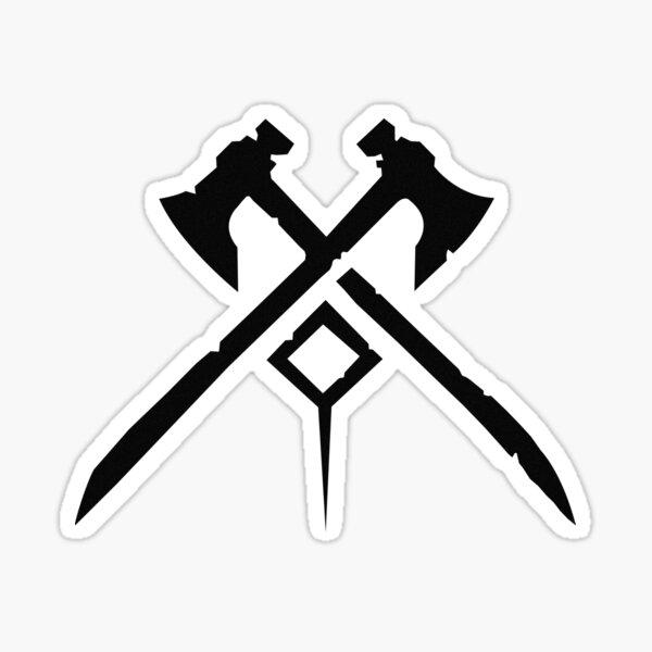 New World Logo Design Sticker