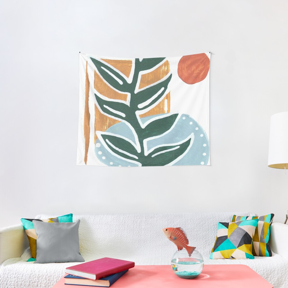 Abstract plant painting Tapestry