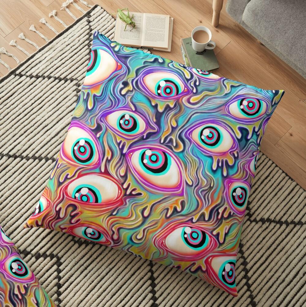 Eyeball Pattern Floor Pillow