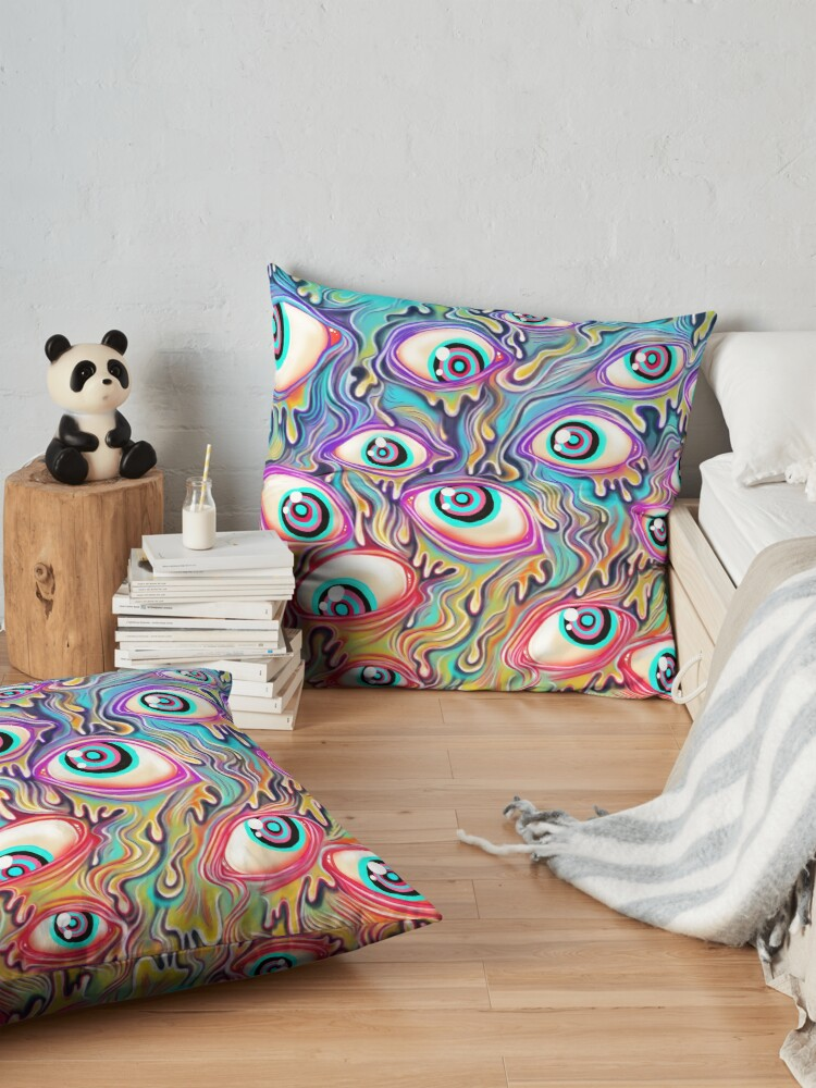 Alternate view of Eyeball Pattern Floor Pillow