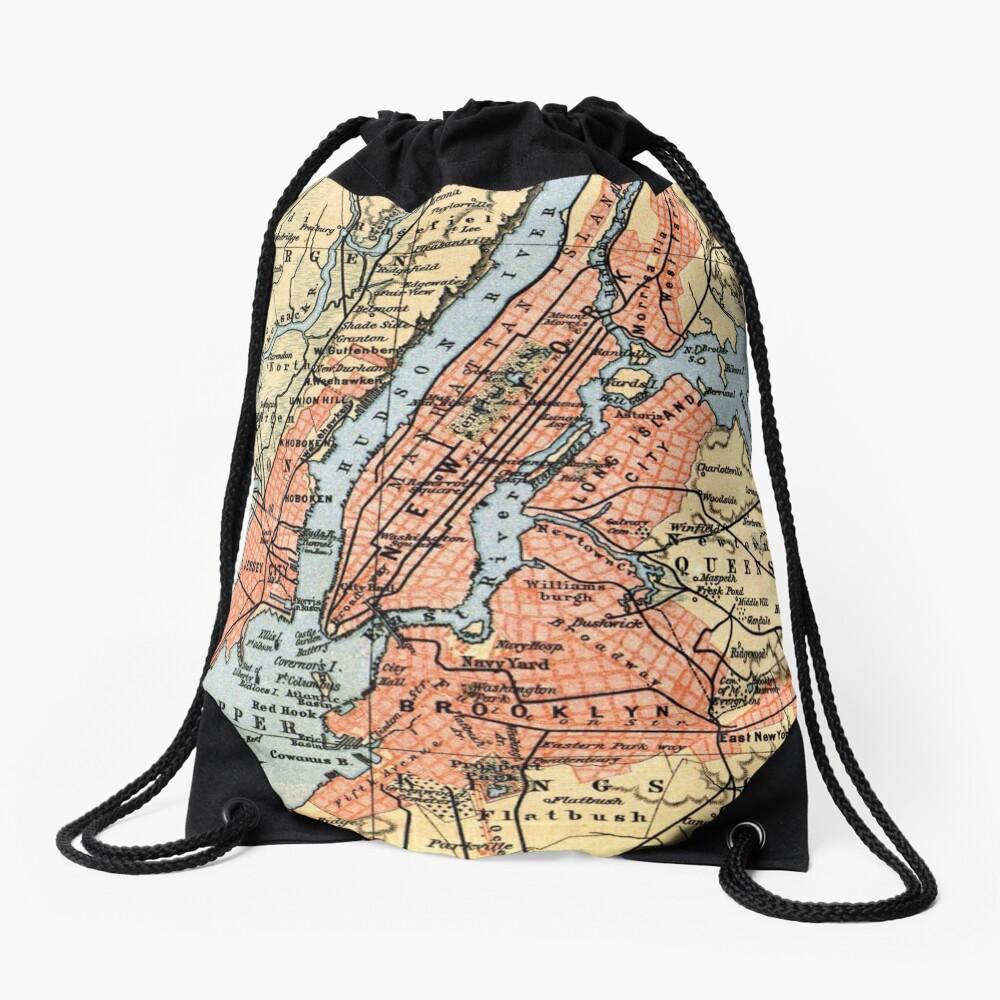 Vintage Map of The New York City Vicinity (1890)  Mochila de cuerdas