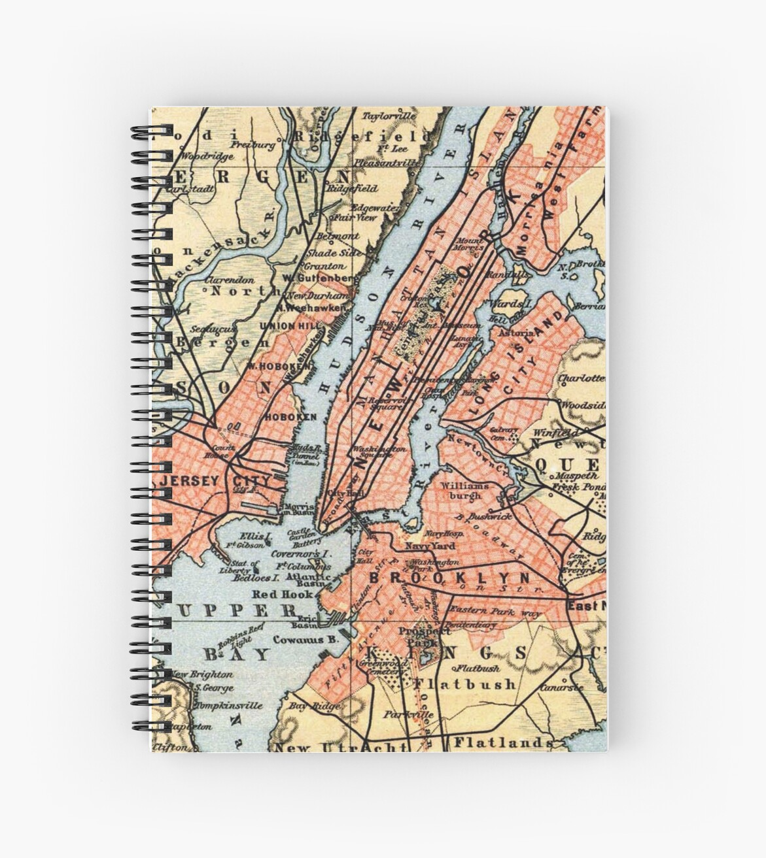 «Vintage Map of The New York City Vicinity (1890) » de BravuraMedia