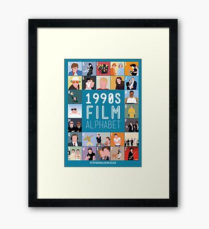 1990's Film Alphabet Framed Print