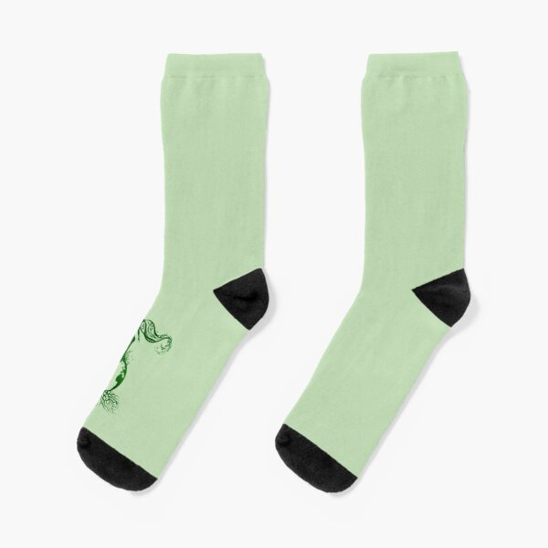 Green Ecology Poster Stop Global Warming Poster Socks Mens Womens Casual Socks Custom Creative Crew Socks