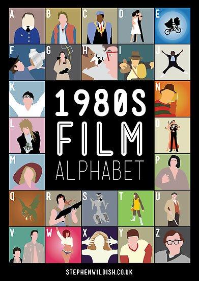 1980's Film Alphabet by Stephen Wildish