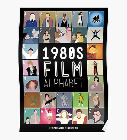 1980's Film Alphabet Poster