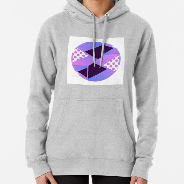 Purple Geometric Shaped Design Spring Pullover Hoodie