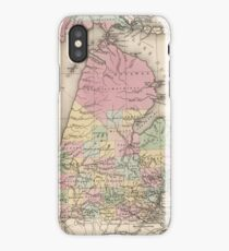 Vintage Map of Michigan (1836) iPhone Case