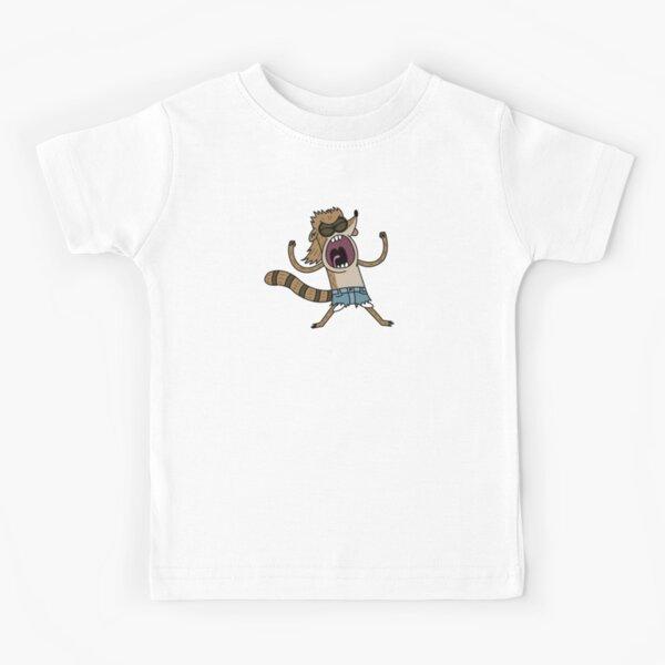 Rigby's Death Punch of Death   Regular Show Kids T-Shirt
