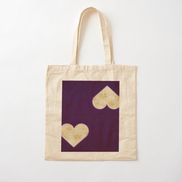 Gold Spring Floral Design Cotton Tote Bag
