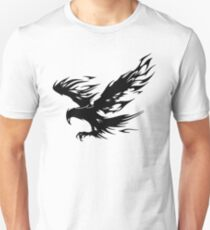 Flaming Tribal Eagle T-Shirt