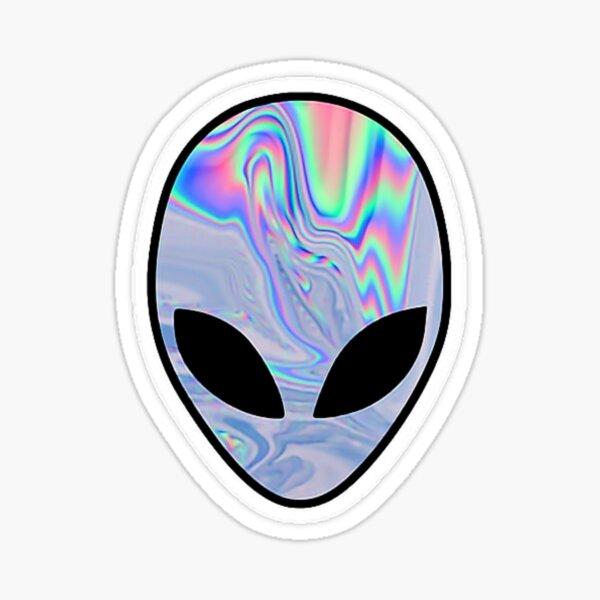 Reflective Alien Sticker