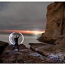 Flash light long exposure sunset  by tomcelroy