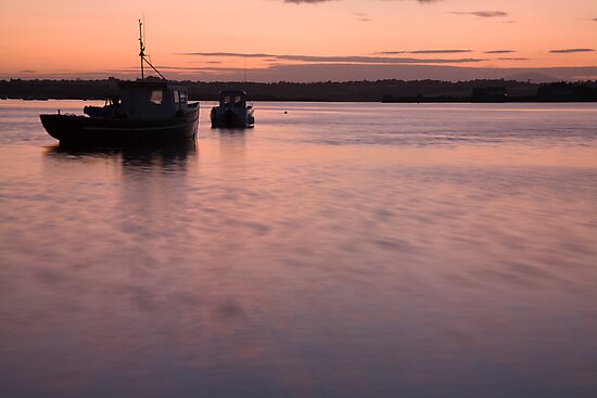 Wexford Harbour at sunset by Ian Middleton
