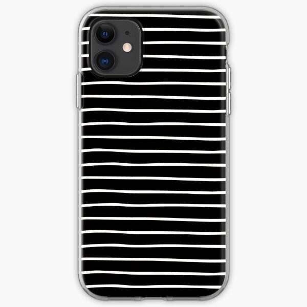 Black and White Stripe Pattern iPhone Soft Case