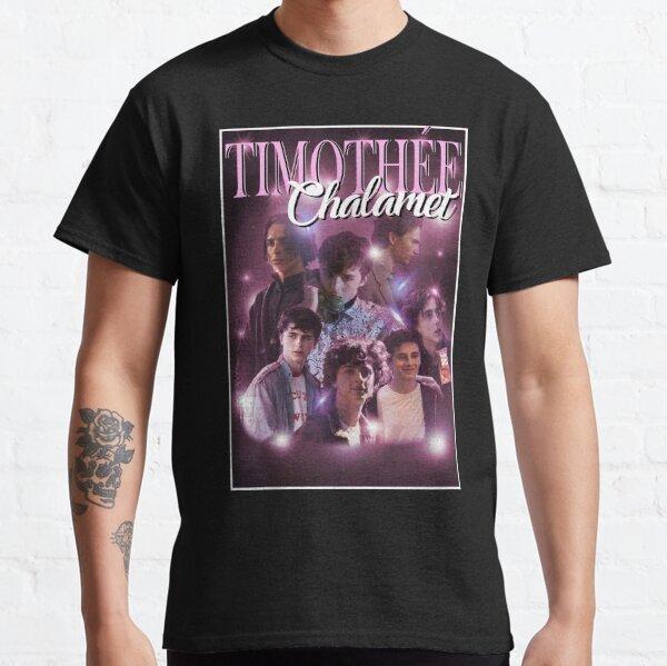 Timothée Chalamet Film Collage de personajes (borde blanco) Camiseta clásica