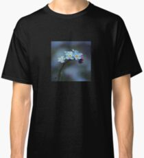 You are loved. Forget-me-nots macro. Classic T-Shirt