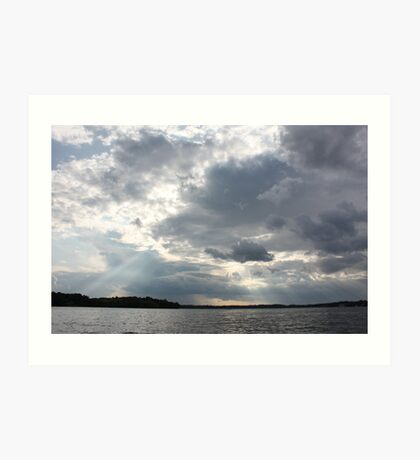 Clouds Over Lake  Art Print