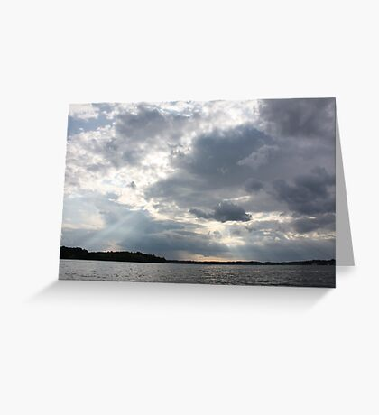 Clouds Over Lake  Greeting Card
