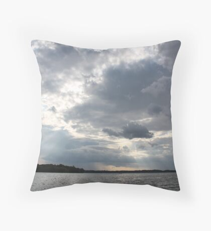 Clouds Over Lake  Throw Pillow
