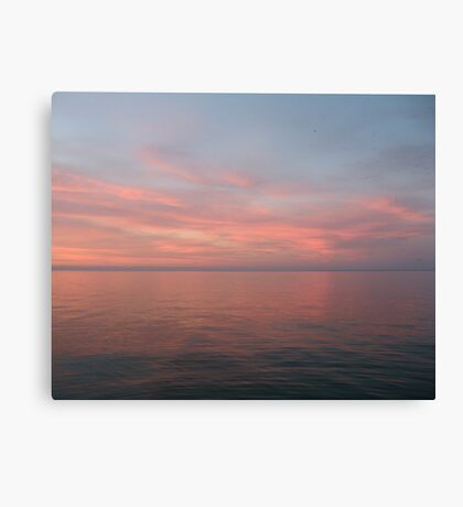 Pink Clouds over Lake Michigan  Canvas Print