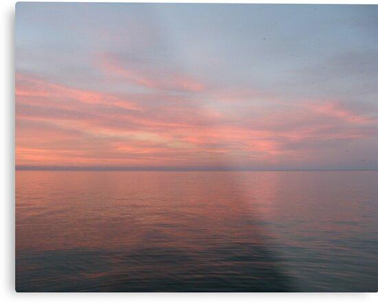 Pink Clouds over Lake Michigan  by Thomas Murphy