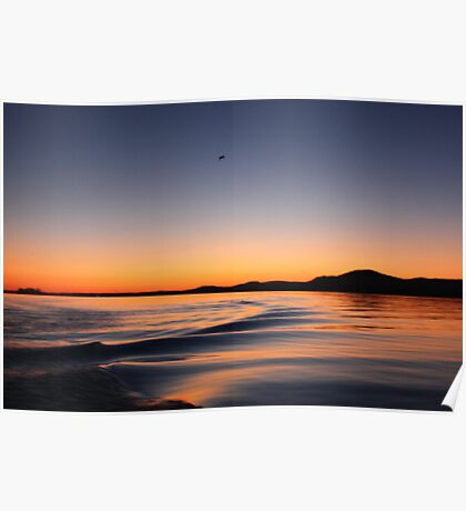 Sunset on Lake Wisconsin Poster