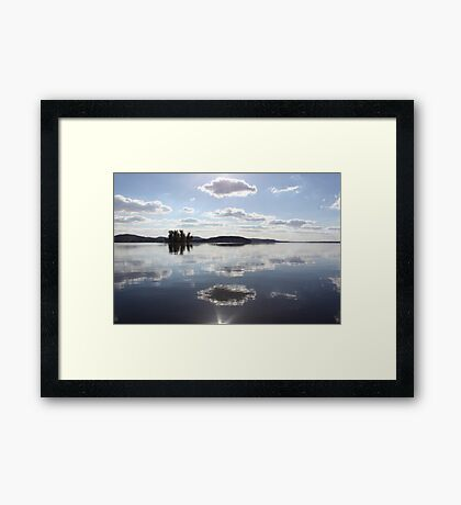 Mirror Clouds on Lake Wisconsin Framed Print