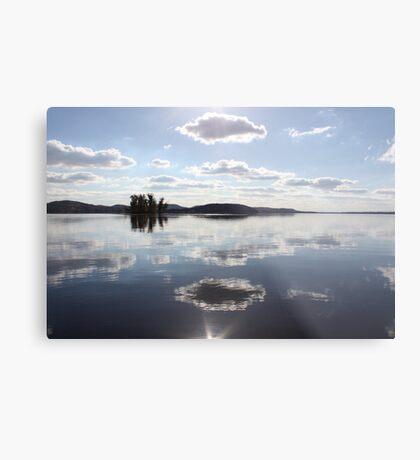 Mirror Clouds on Lake Wisconsin Metal Print