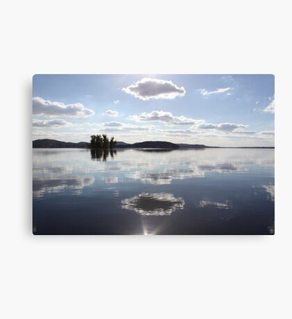 Mirror Clouds on Lake Wisconsin Canvas Print