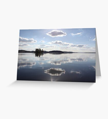Mirror Clouds on Lake Wisconsin Greeting Card