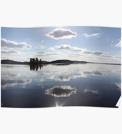 Mirror Clouds on Lake Wisconsin Poster