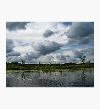 Majestic Clouds over Lake Photographic Print