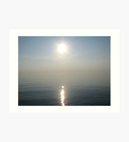 Sun Ray over Lake Michigan Art Print