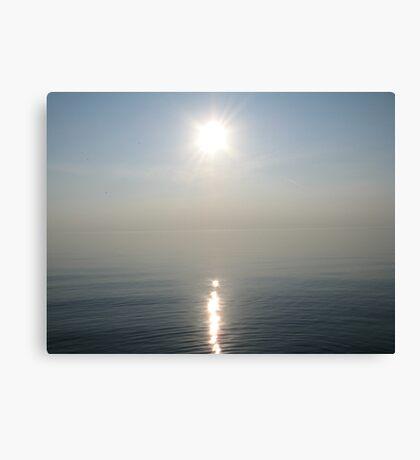 Sun Ray over Lake Michigan Canvas Print