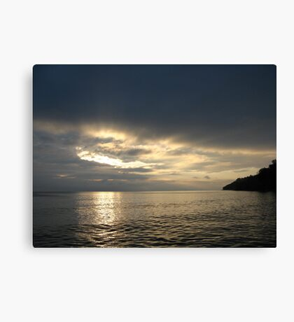Time Rift Clouds over Lake Michigan 452 Canvas Print
