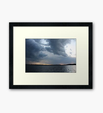 Threatening Clouds Framed Print