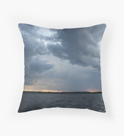 Threatening Clouds Throw Pillow