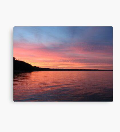 Beautiful Sunset on Lake Michigan  Canvas Print