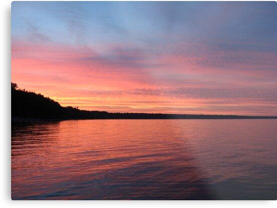 Beautiful Sunset on Lake Michigan  by Thomas Murphy
