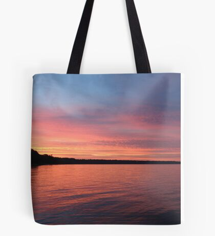Beautiful Sunset on Lake Michigan  Tote Bag