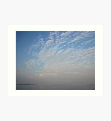 Guardian Angel Clouds Art Print