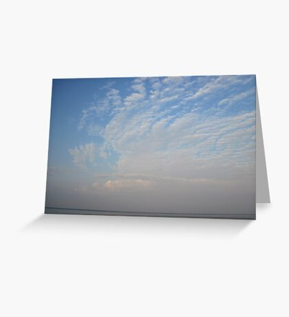 Guardian Angel Clouds Greeting Card